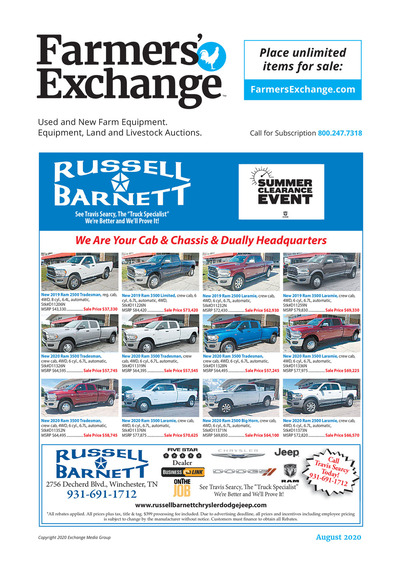 Farmer's Exchange - Free View - August 2020
