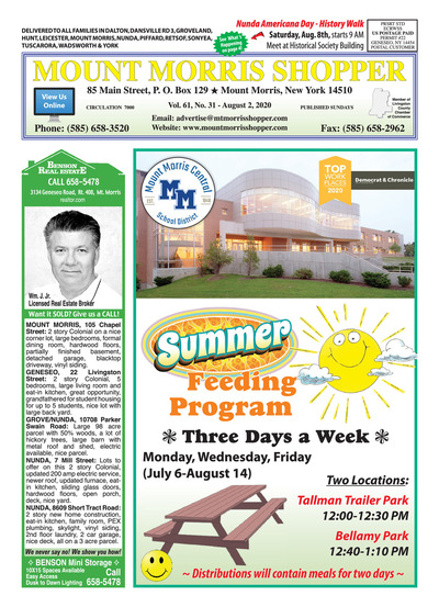 Mount Morris Shopper - Aug 2, 2020