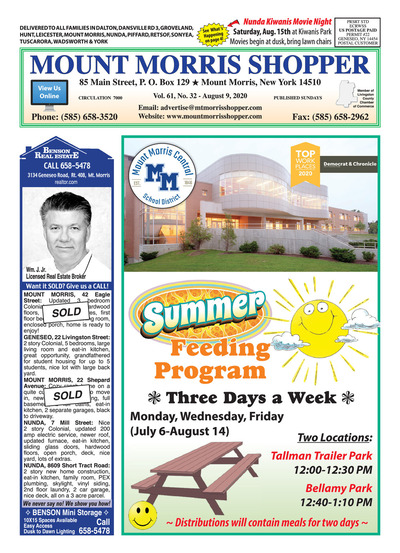 Mount Morris Shopper - Aug 9, 2020