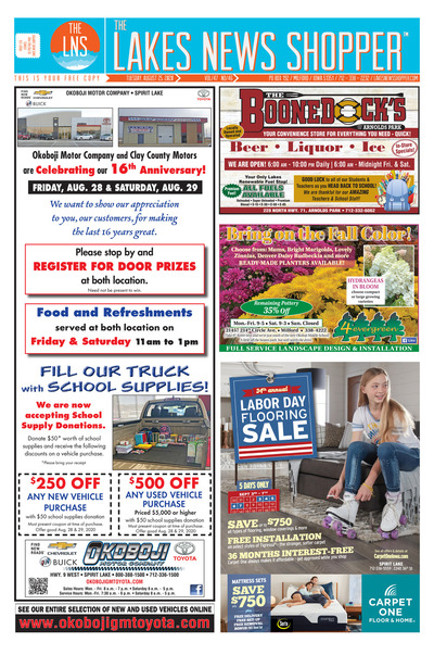 Lakes News Shopper - Aug 25, 2020