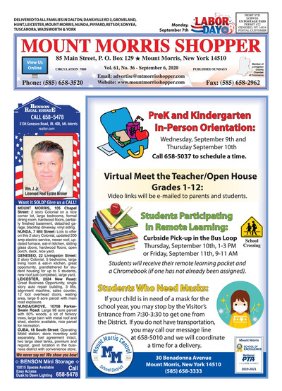 Mount Morris Shopper - Sep 6, 2020