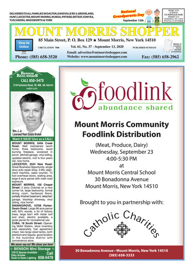 Mount Morris Shopper - Sep 13, 2020