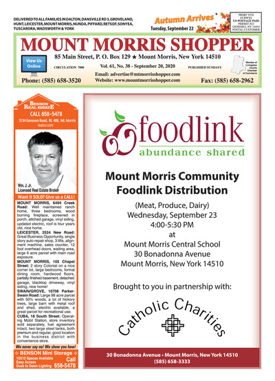 Mount Morris Shopper - Sep 20, 2020