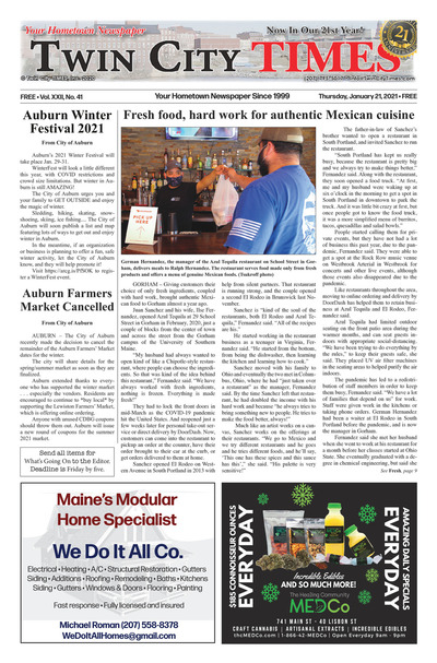 Twin City Times - Jan 21, 2021