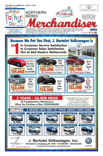 Northern Berks Merchandiser - Jun 17, 2015