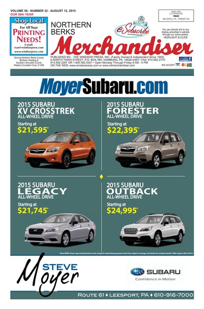 Northern Berks Merchandiser - Aug 12, 2015