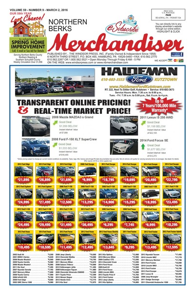 Northern Berks Merchandiser - Mar 2, 2016