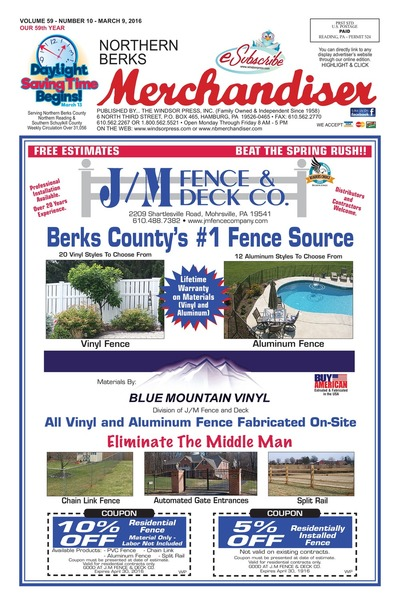 Northern Berks Merchandiser - Mar 9, 2016