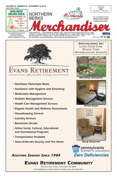 Northern Berks Merchandiser - Dec 16, 2015