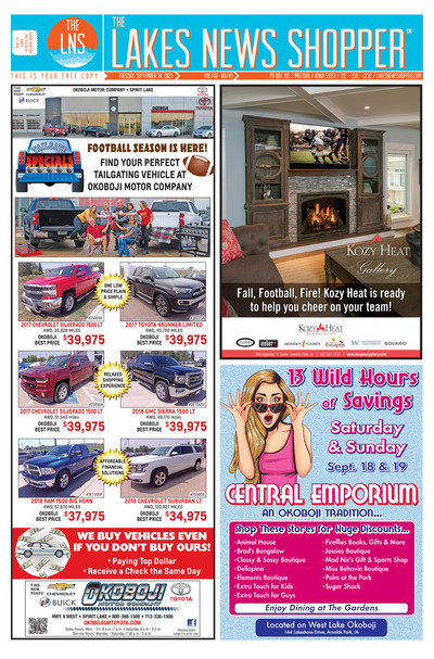 Click to read this week's Lakes News Shopper