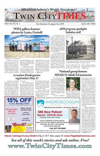 Twin City Times - Apr 21, 2016