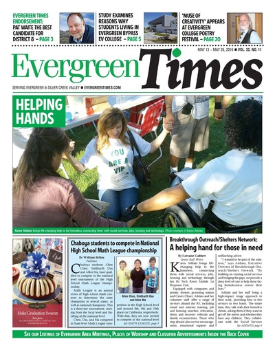 Evergreen Times - May 13, 2016