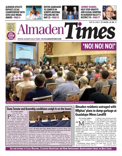 Almaden Times - May 20, 2016