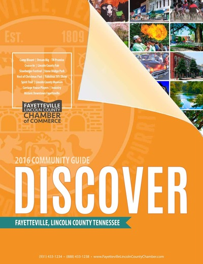 Fayetteville Lincoln County Chamber of Commerce Magazine - 2016 Community Guide