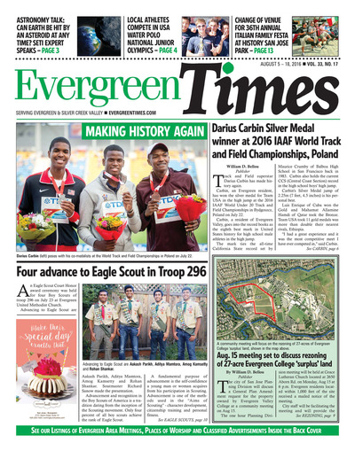 Evergreen Times - Aug 5, 2016