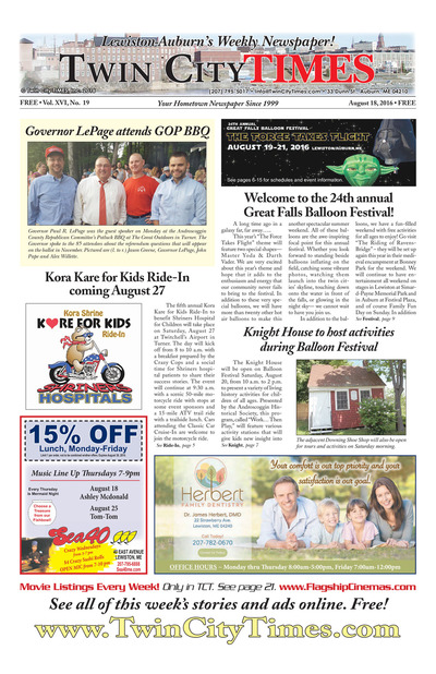 Twin City Times - Aug 18, 2016