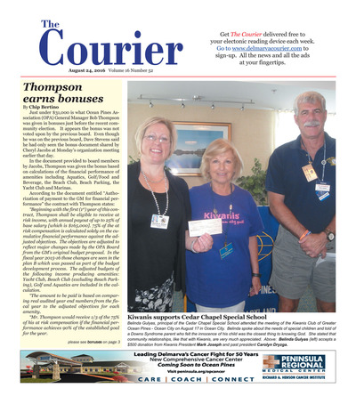 Delmarva Courier - Aug 24, 2016