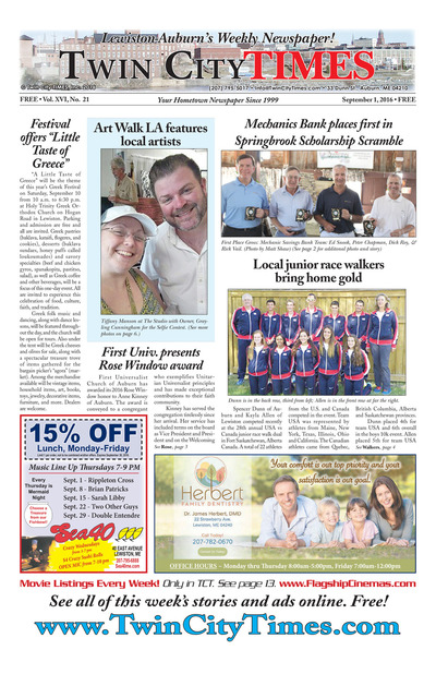 Twin City Times - Sep 1, 2016