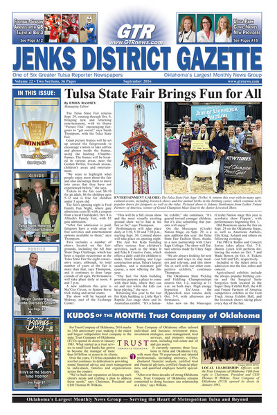 Jenks District Gazette - September 2016