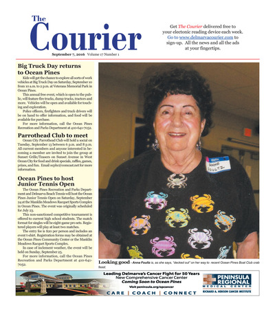 Delmarva Courier - Sep 7, 2016