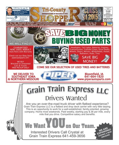 Tri-County Shopper - May 13, 2015