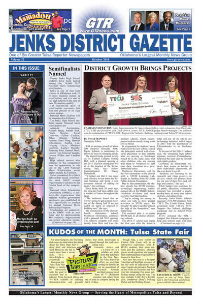 Jenks District Gazette - October 2016