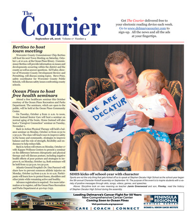 Delmarva Courier - Sep 28, 2016