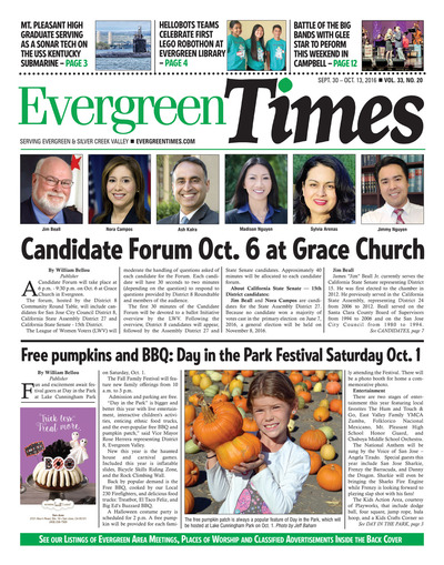 Evergreen Times - Sep 30, 2016