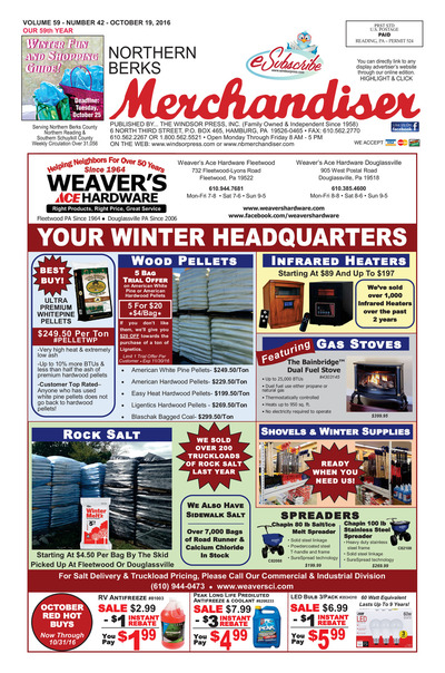 Northern Berks Merchandiser - Oct 19, 2016