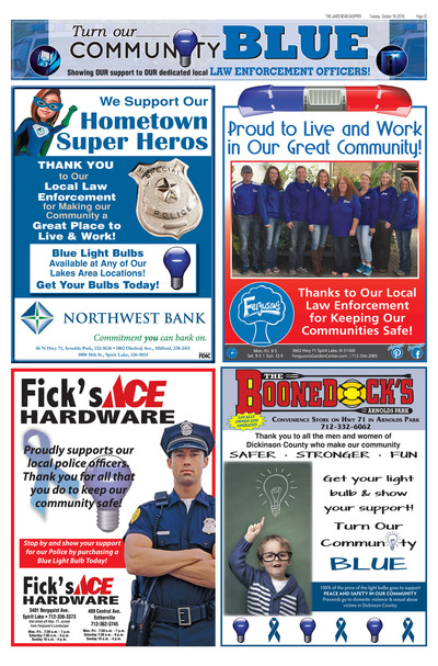 Lakes News Shopper - Turn Our Community Blue