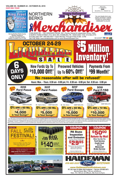 Northern Berks Merchandiser - Oct 26, 2016