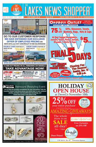 Lakes News Shopper - Nov 8, 2016
