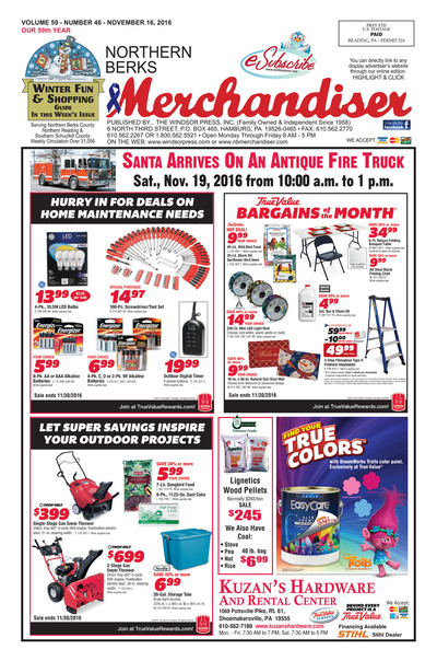 Northern Berks Merchandiser - Nov 16, 2016