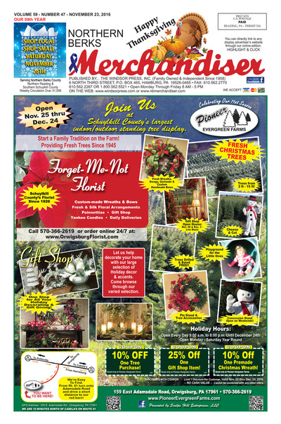 Northern Berks Merchandiser - Nov 23, 2016