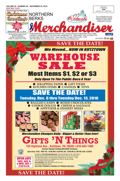 Northern Berks Merchandiser - Nov 30, 2016