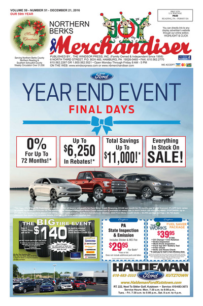 Northern Berks Merchandiser - Dec 21, 2016