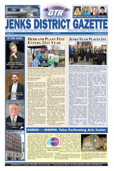 Jenks District Gazette - April 2017