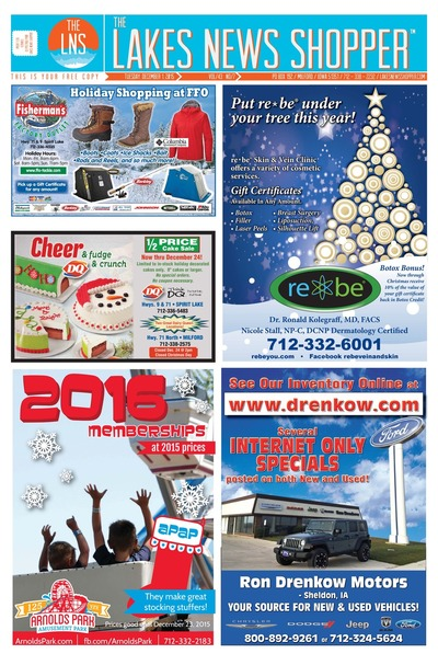Lakes News Shopper - Dec 1, 2015