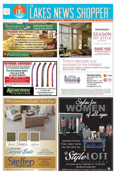 Lakes News Shopper - Oct 6, 2015