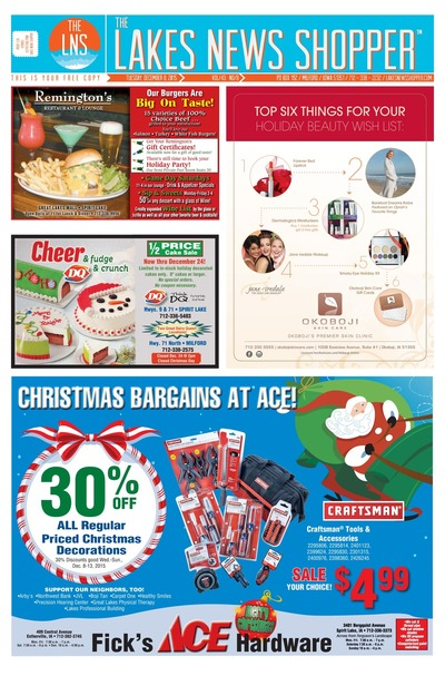 Lakes News Shopper - Dec 8, 2015