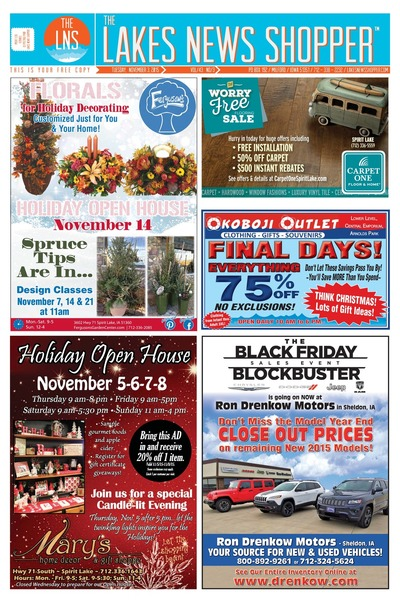 Lakes News Shopper - Nov 3, 2015