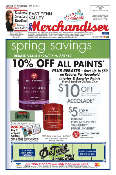 East Penn Valley Merchandiser - May 31, 2017