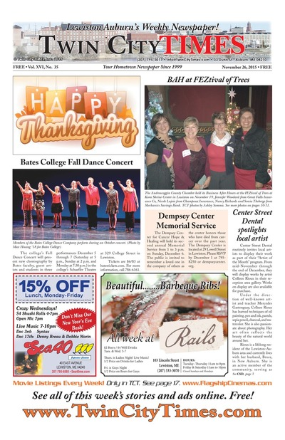 Twin City Times - Nov 26, 2015