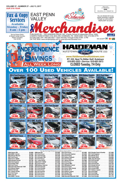 East Penn Valley Merchandiser - Jul 5, 2017