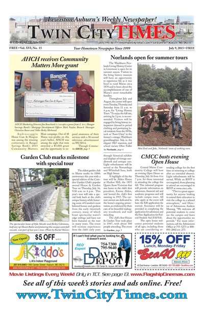 Twin City Times - Jul 9, 2015