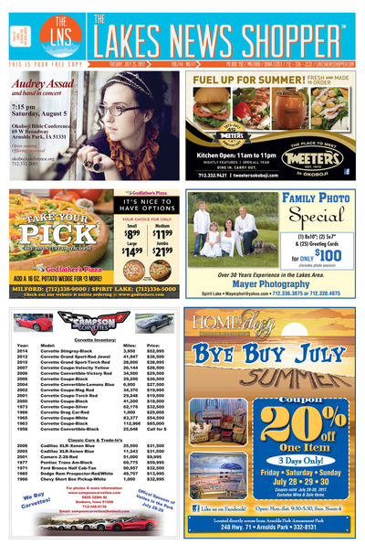 Lakes News Shopper - Jul 25, 2017
