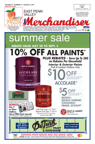 East Penn Valley Merchandiser - Aug 2, 2017