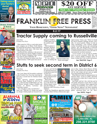 Franklin Free Press - Aug 2, 2017