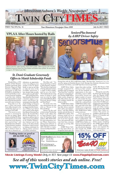 Twin City Times - Jul 16, 2015