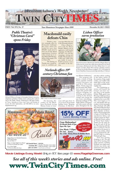 Twin City Times - Dec 10, 2015